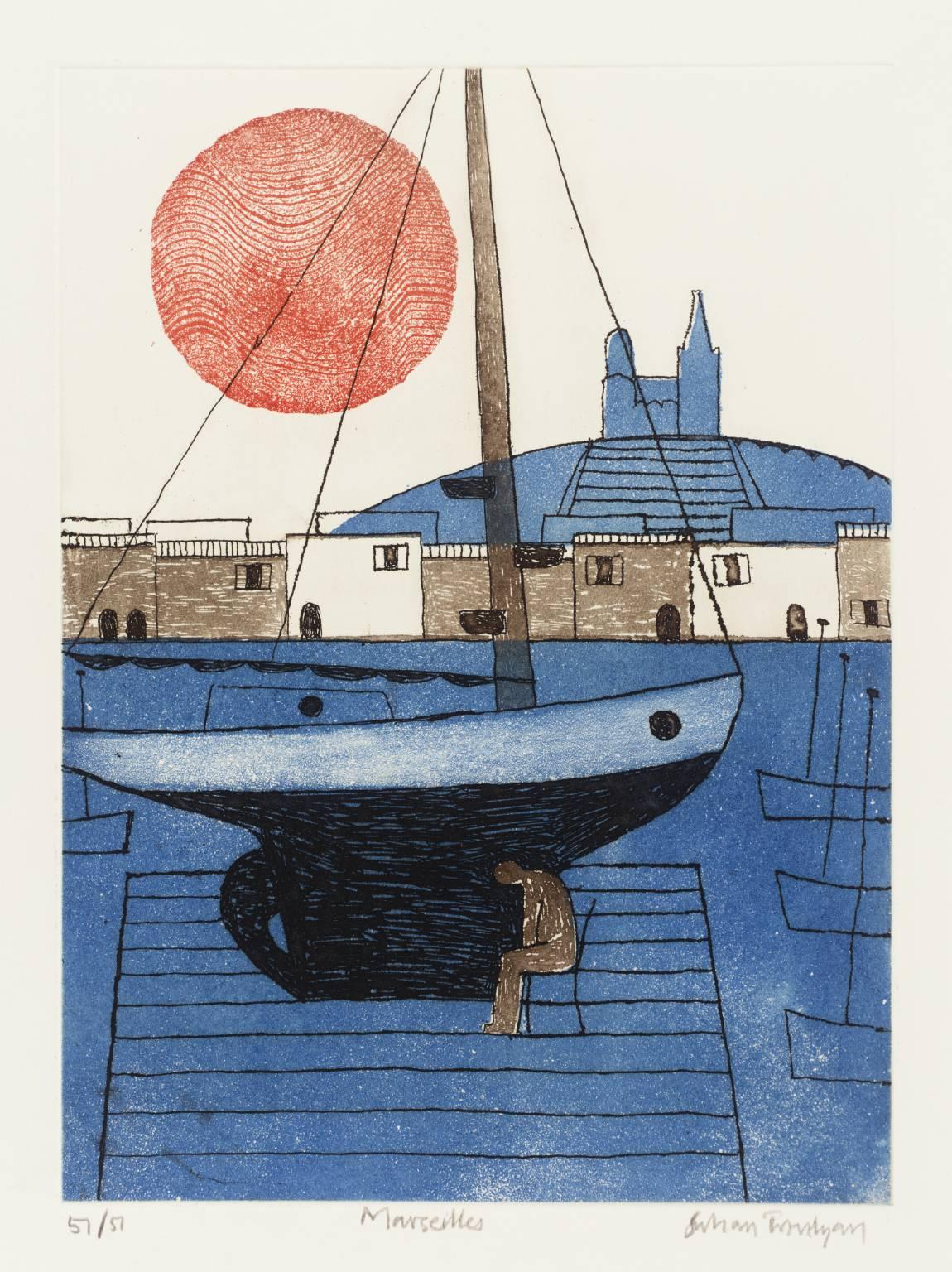 mapart.me:   Julian Trevelyan - Marseilles