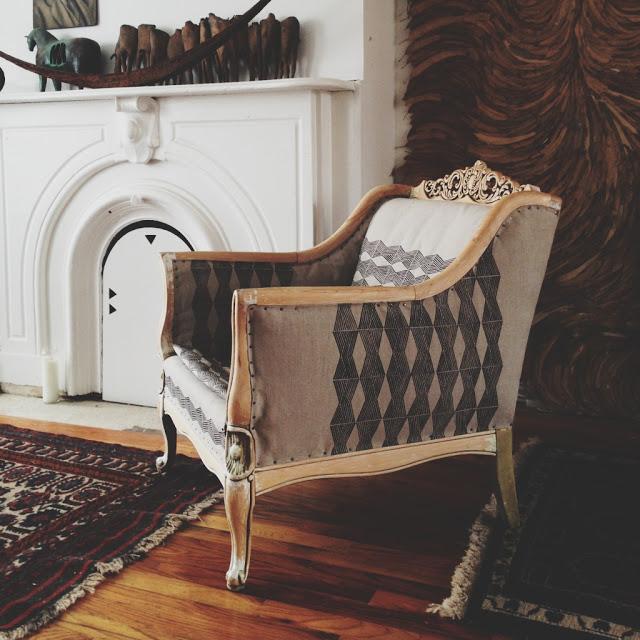 Ariele Alasko - printed fabric linen upholstery
