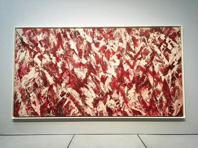Love love love 💕 Lee Krasner @barbicancentre some colourful #artwork to brighten your day 😉#abstractexpressionism #leekrasner #texture #dldlondon #londondesigner