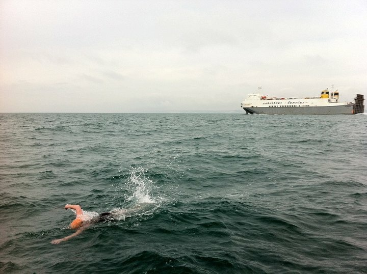 Swimming the English Channel in freezing conditions and avoiding Channel Ferries!