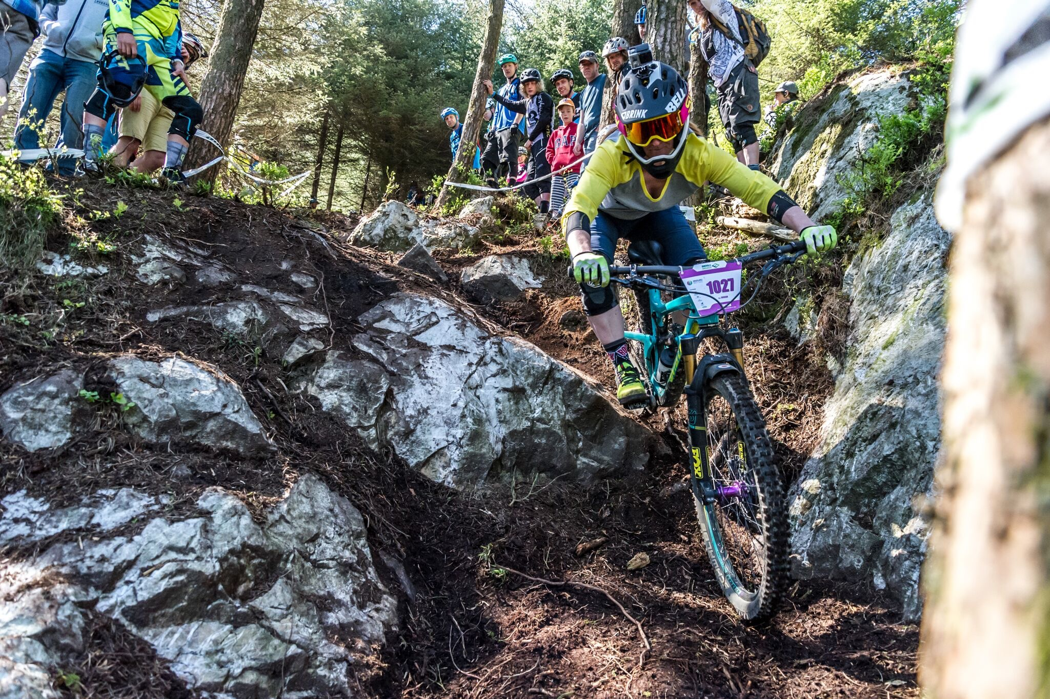 A great shot of me competing in the Enduro World Series captured by Dan Wyre Photography
