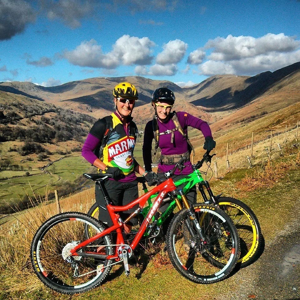 I made friends for life at the Trans Provence, none more inspiring than Julian Hobson, we have met up as often as possible to ride, this was on our way up a climb in the Lake District.