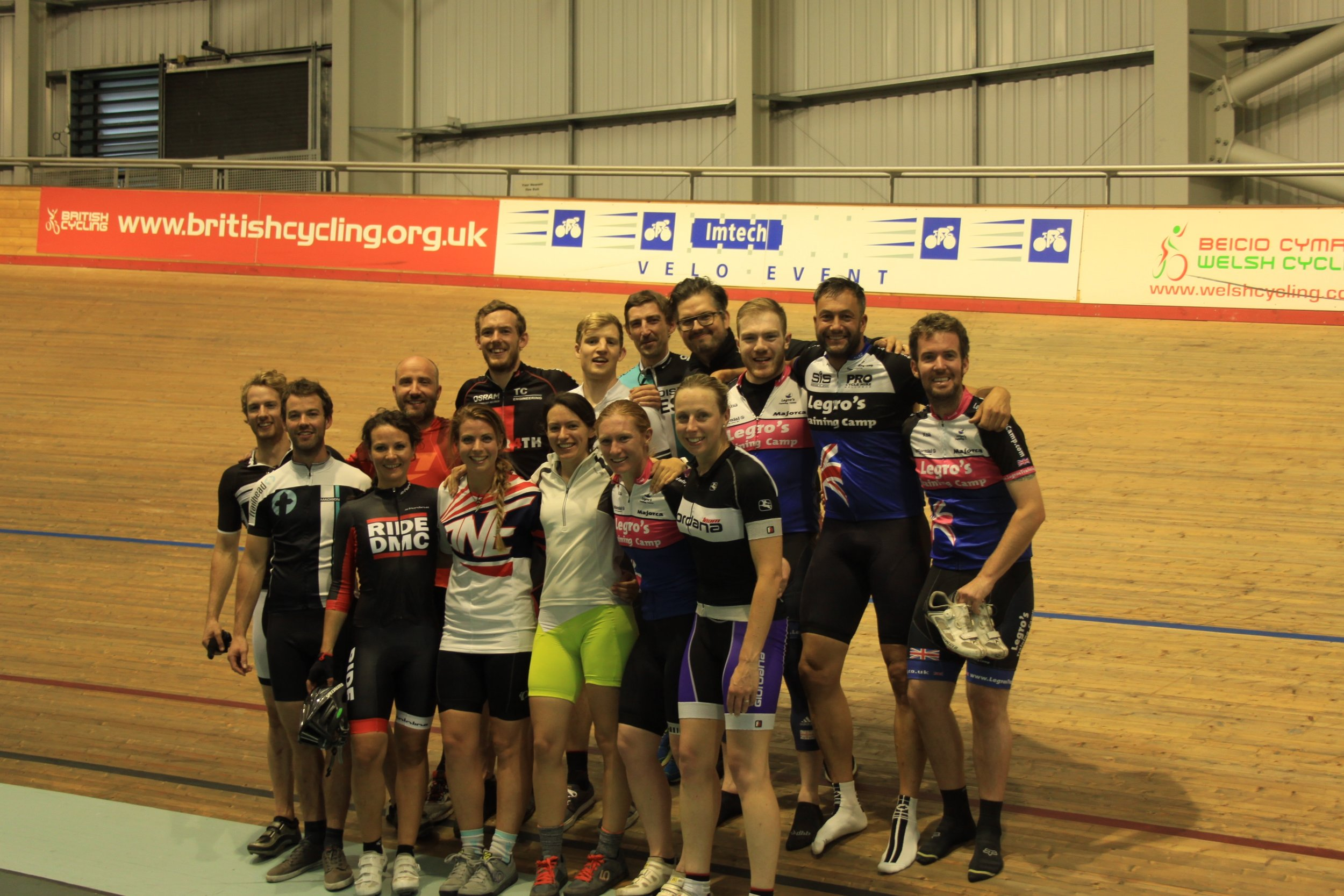 Friends, united through a mutual love of bikes. This photo looks like we all know what we are doing on a velodrome but I can assure you apart from a couple of professionals for the rest of us it was mayhem!