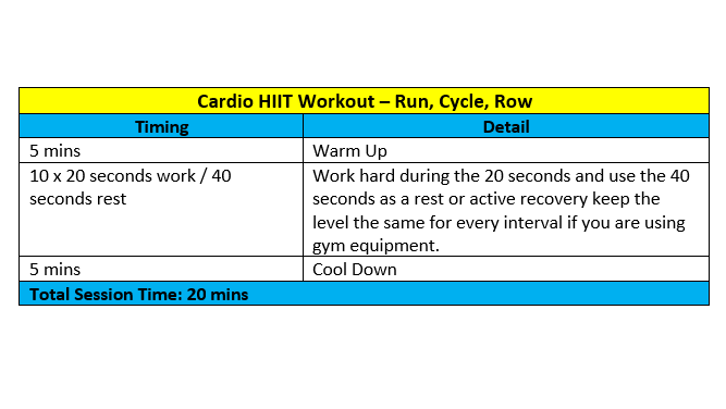 Or try this Cardio HIIT workout!