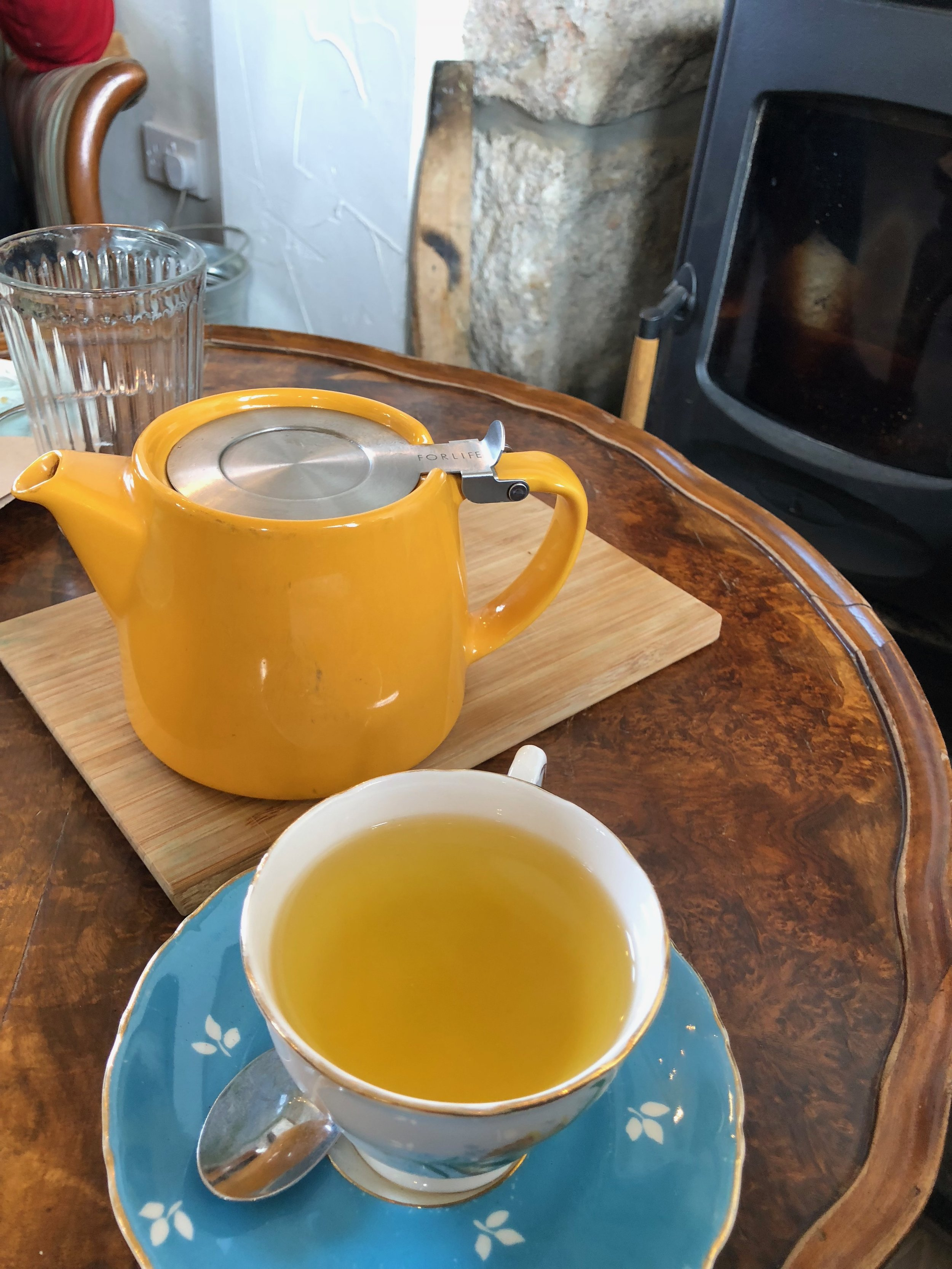 Turmeric tea has been a staple for me so far. So many anti-inflammatory benefits!