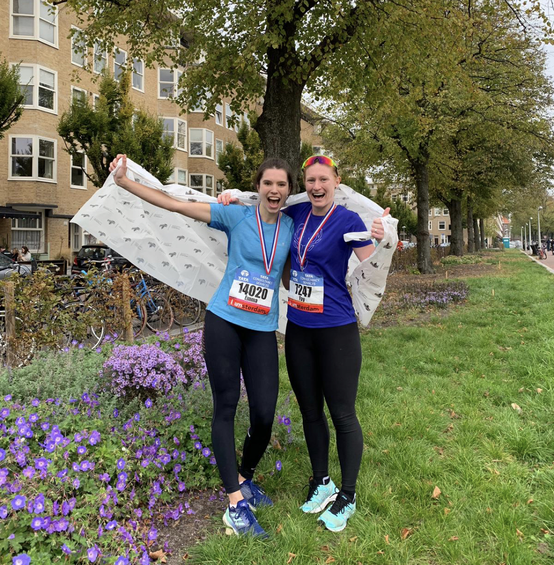 Training for the Amsterdam Marathon with Emma Petrie spread over a few months, we had a lot of great runs and sluggish runs during our training programme!