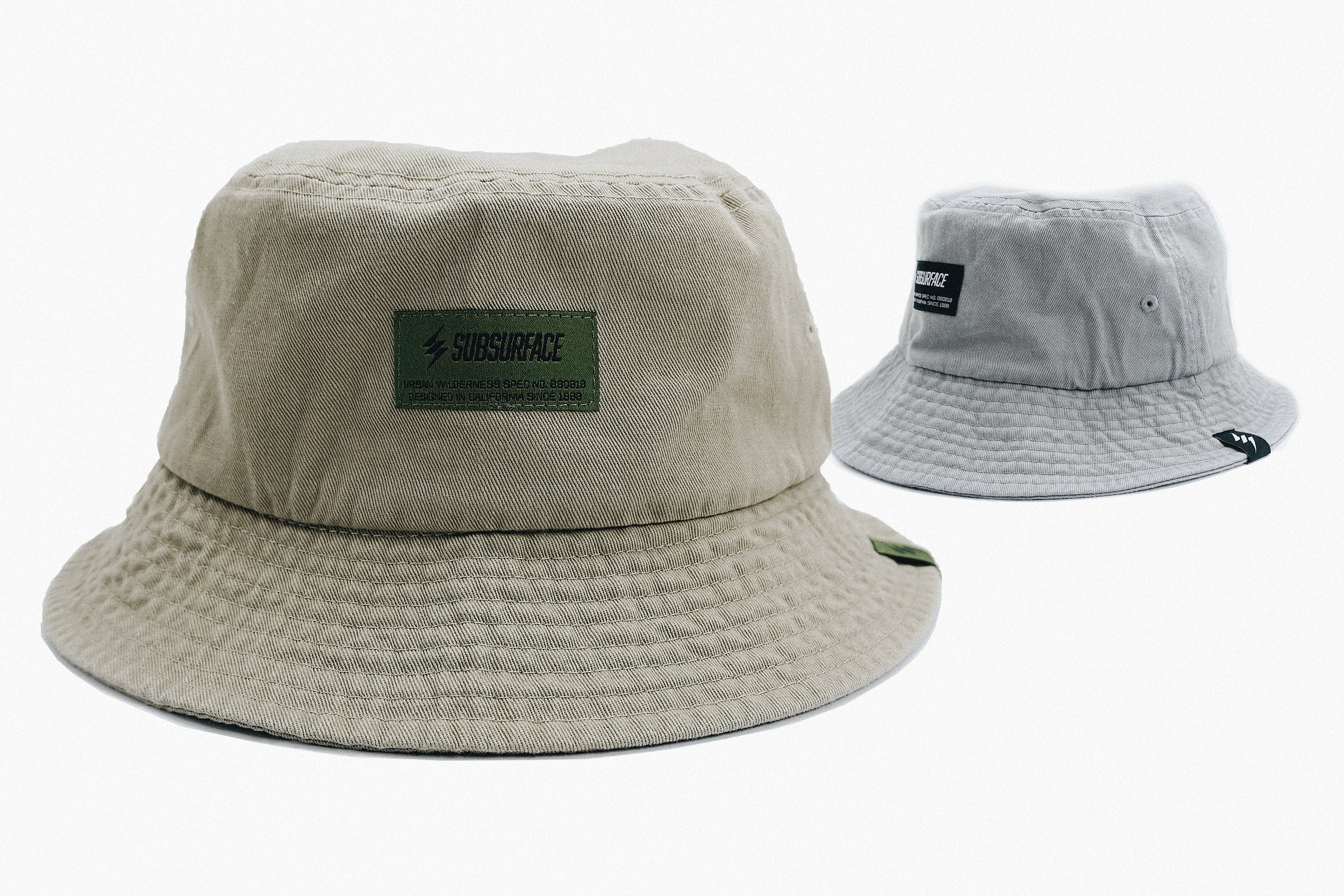The Battalion Bucket Hat - [SKU #SUB0009] - Solid construction with Signature Woven Labels / Unstructured Crown / Embroidered Eyelets for Breathability / 100% Cotton / One Size Fits All