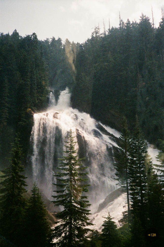 They were pretty big actually. Thanks VIA rail employee! Pyramid Falls in British Columbia.