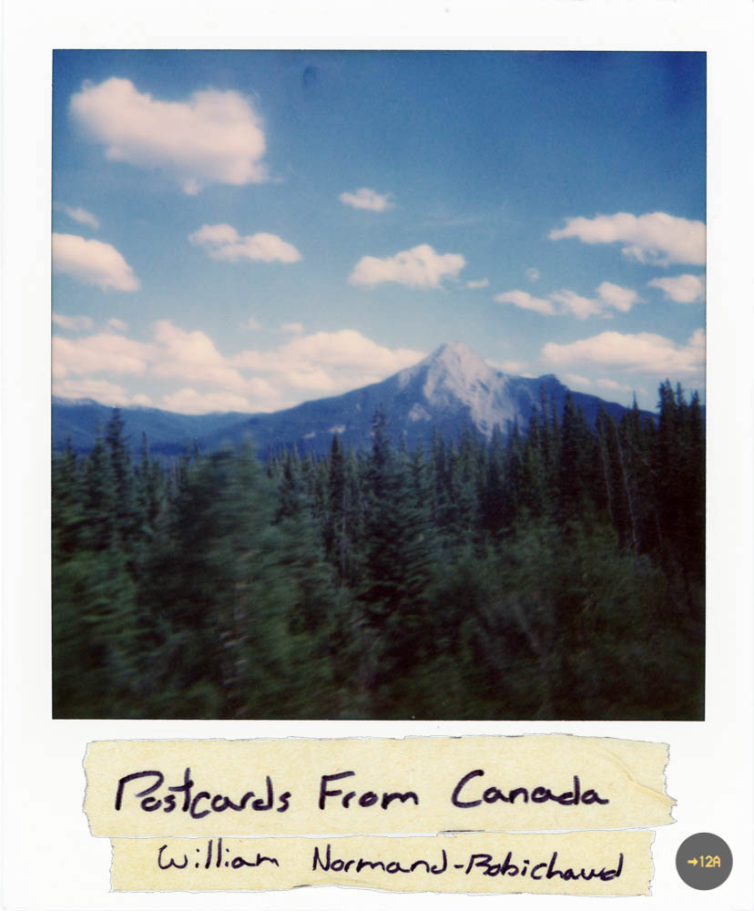 WIP concept for the eventual book cover. The picture was the first polaroid of the trip. Somewhere in dreamy Alberta.