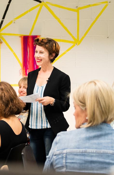 Image courtesy Sophie Saville,    #SoSavy   , Carli Leimbach & Vibewire, at November's storytelling workshop MAKING HERSTORY.