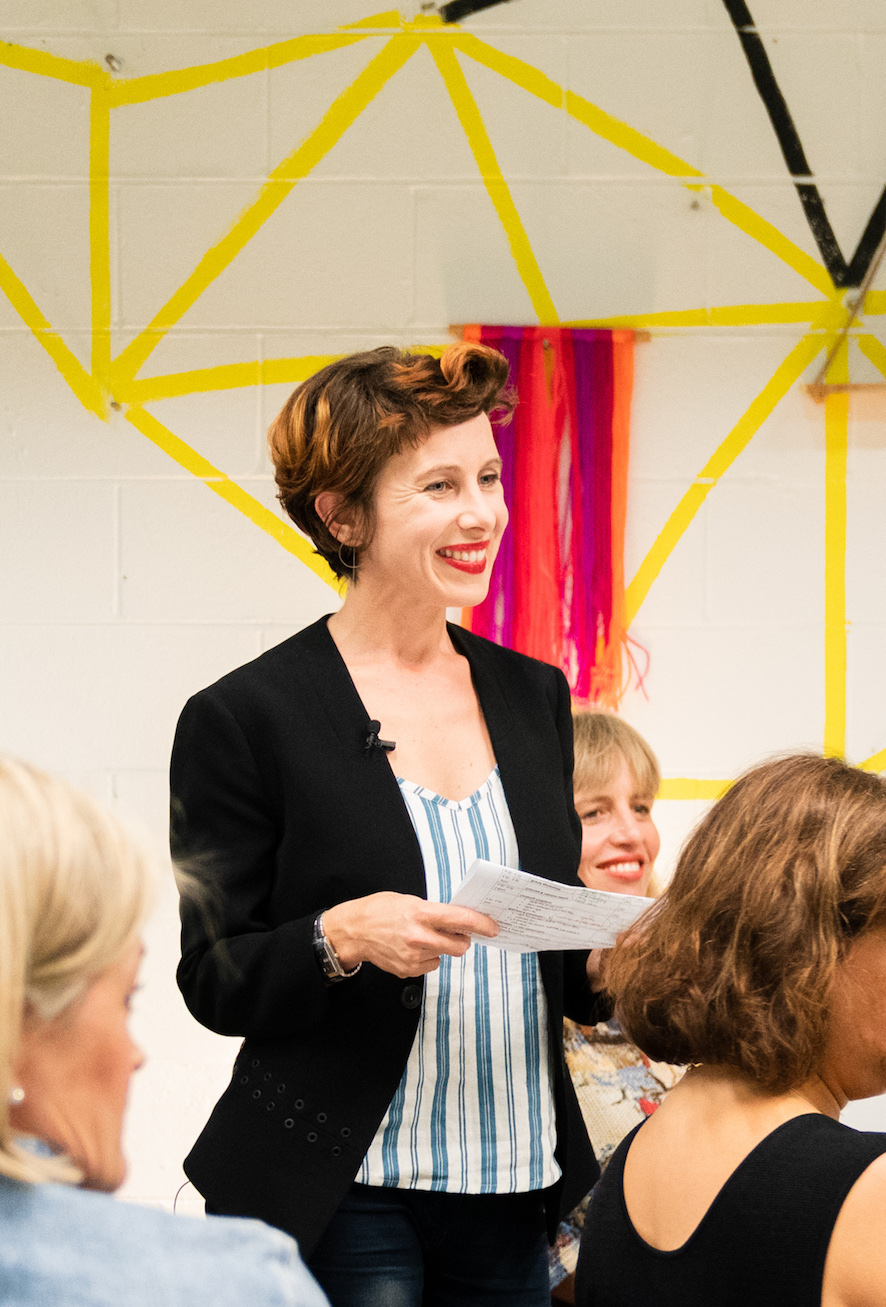 Kathy Gray, Enabling Enterprise founder presenting the storytelling workshop MAKING HERSTORY, 2018. Image courtesy Sophie Saville,    #SoSavy   , Carli Leimbach & Vibewire.