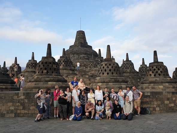 Our amazing #artsleaders2019 group at Borobudur Temple.