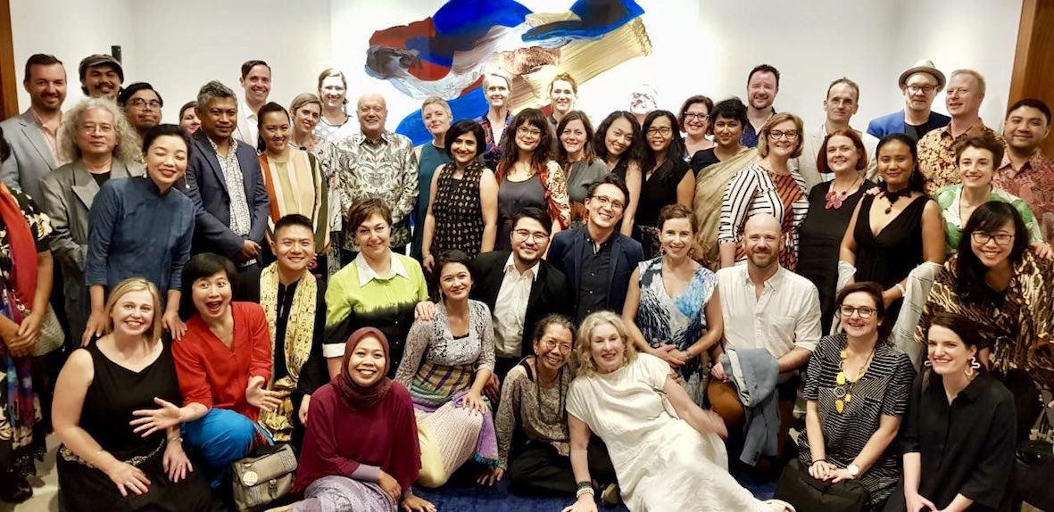 Huge thanks to the Australia Council, DFAT, all the Indonesian leaders we engaged with, and to Australian Ambassador Gary Quinlan AO who warmly hosted us all for this picture!