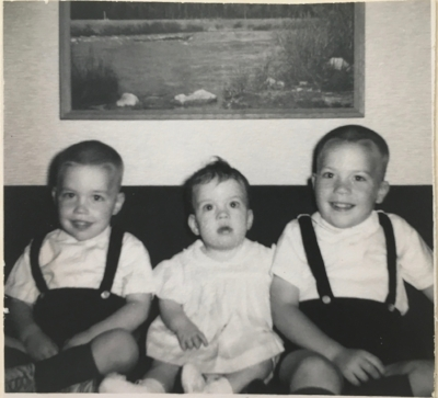 1963: Named Ann Drew (amusing name, Mom & Dad). Raised in small-town Iowa with my big bro's.