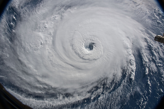 "NASA Goddard Space Flight Ceter. ""Dramatic Views of Hurricane Florence from the International Space Station From 9/12.""  Flickr , Yahoo!, 12 Sept. 2018, www.flickr.com/photos/gsfc/42828604840."