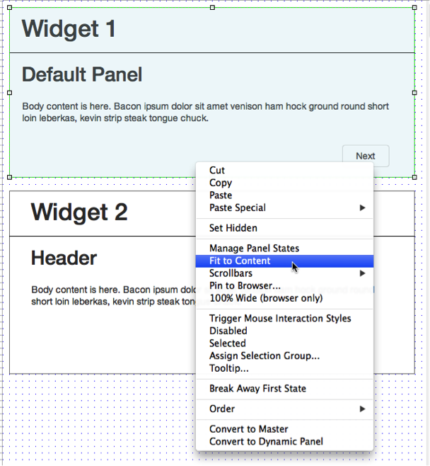 The magical solution in the right-click menu: Fit to Content.