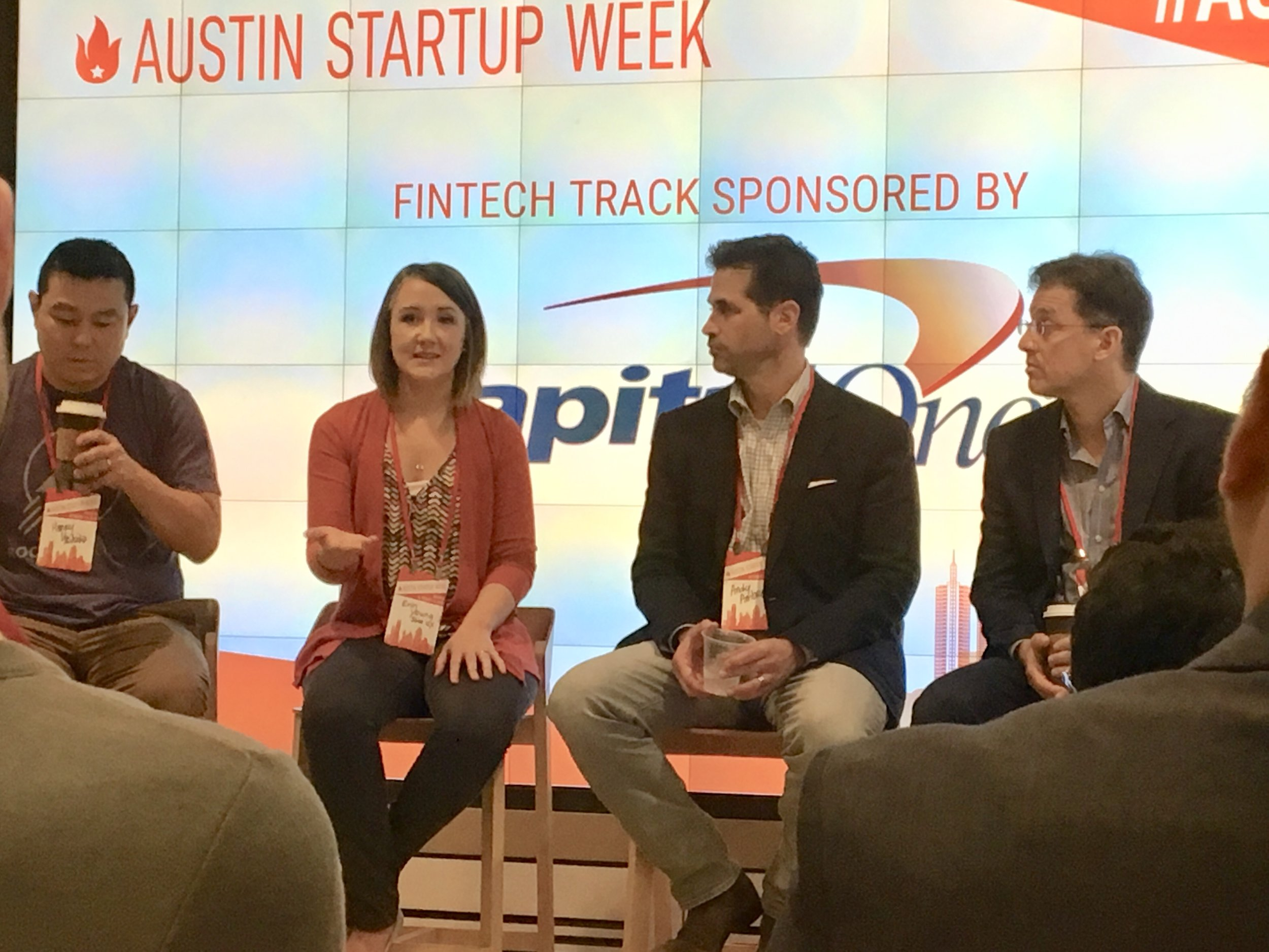 Me speaking at Austin Startup Week 2018.