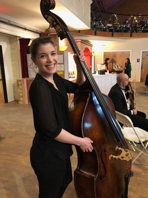 Lindsay and her double bass!