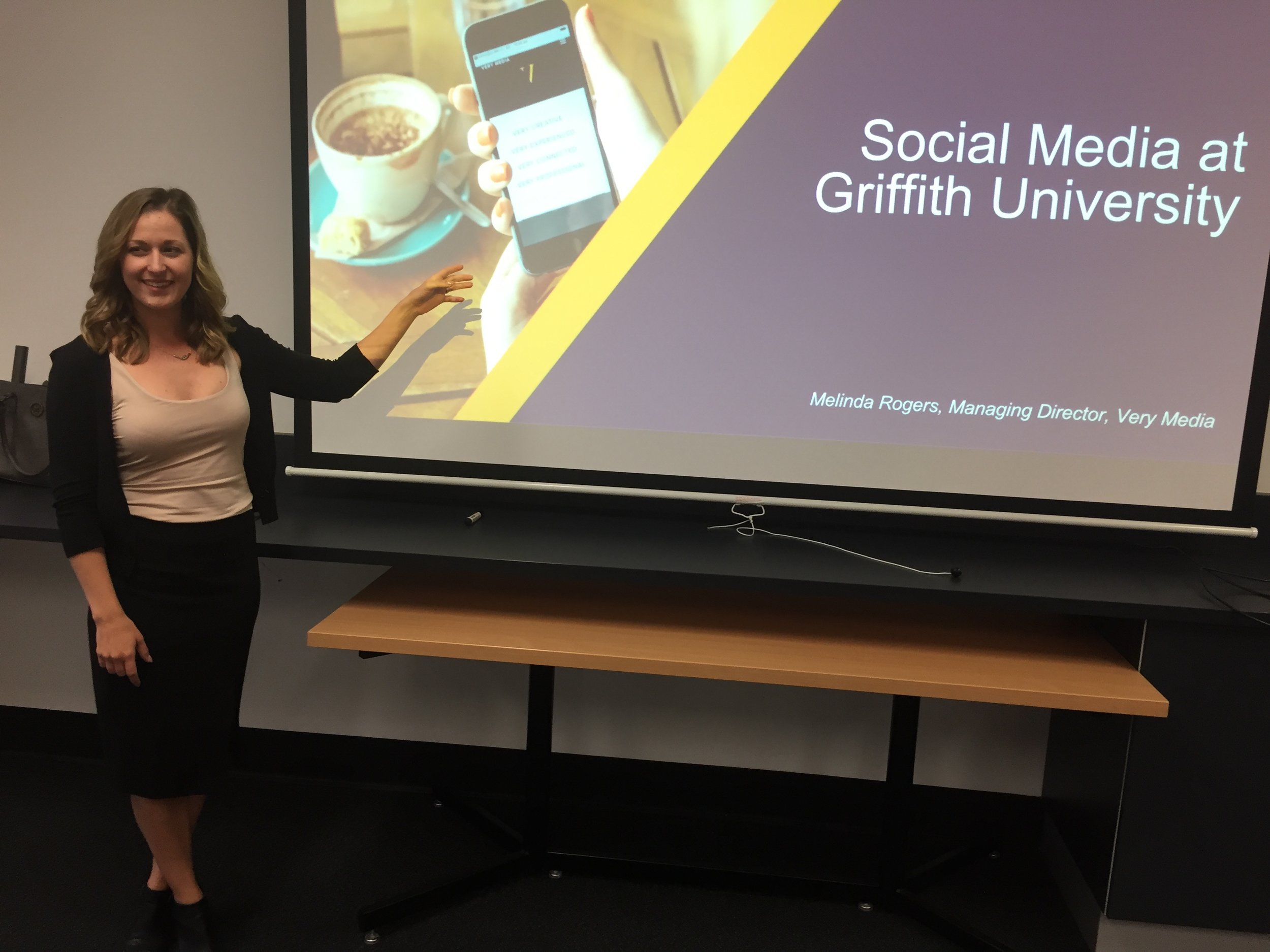 Managing Director Melinda Rogers delivers a workshop to staff at Griffith University.
