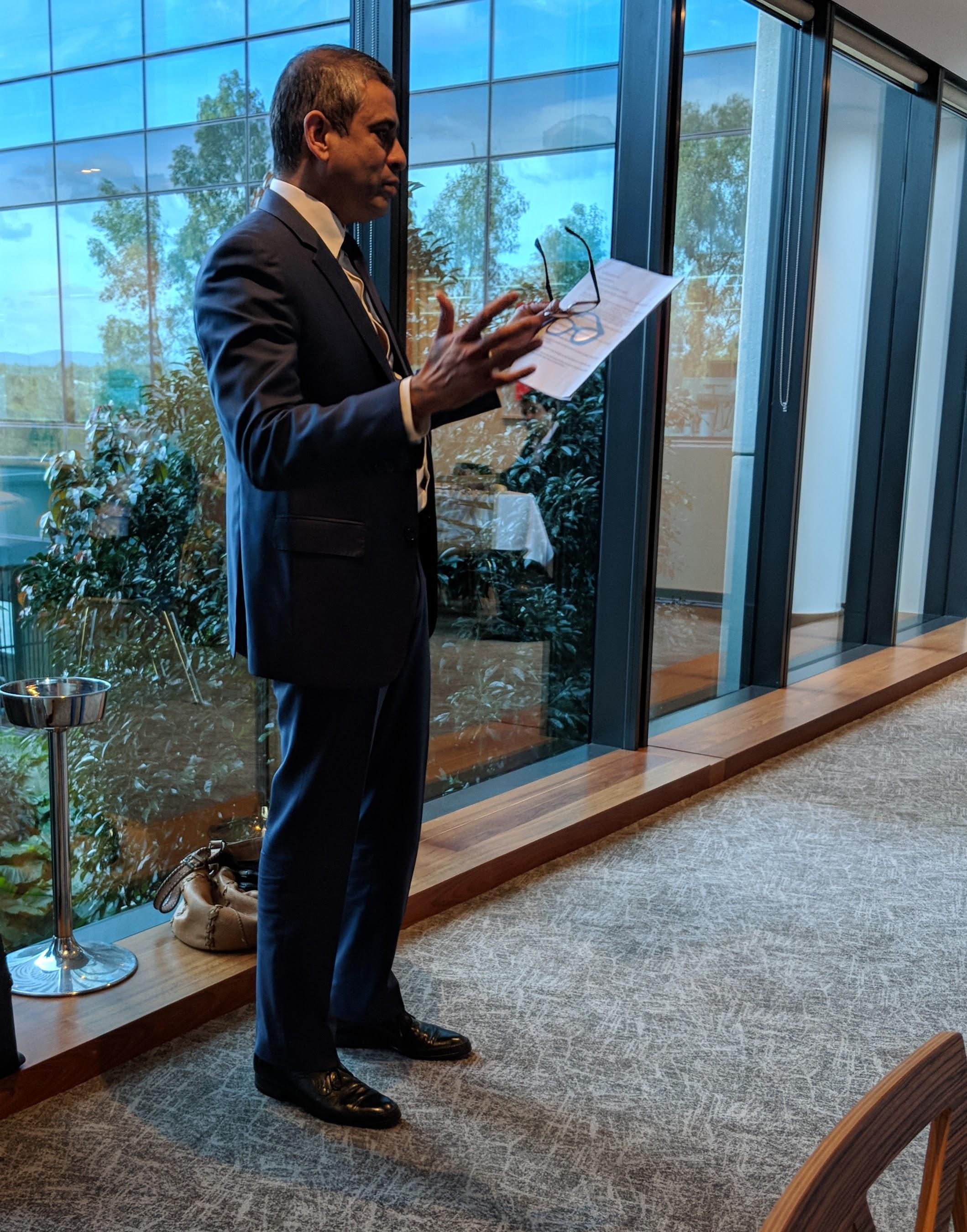 Global media executive Charlton D'Silva