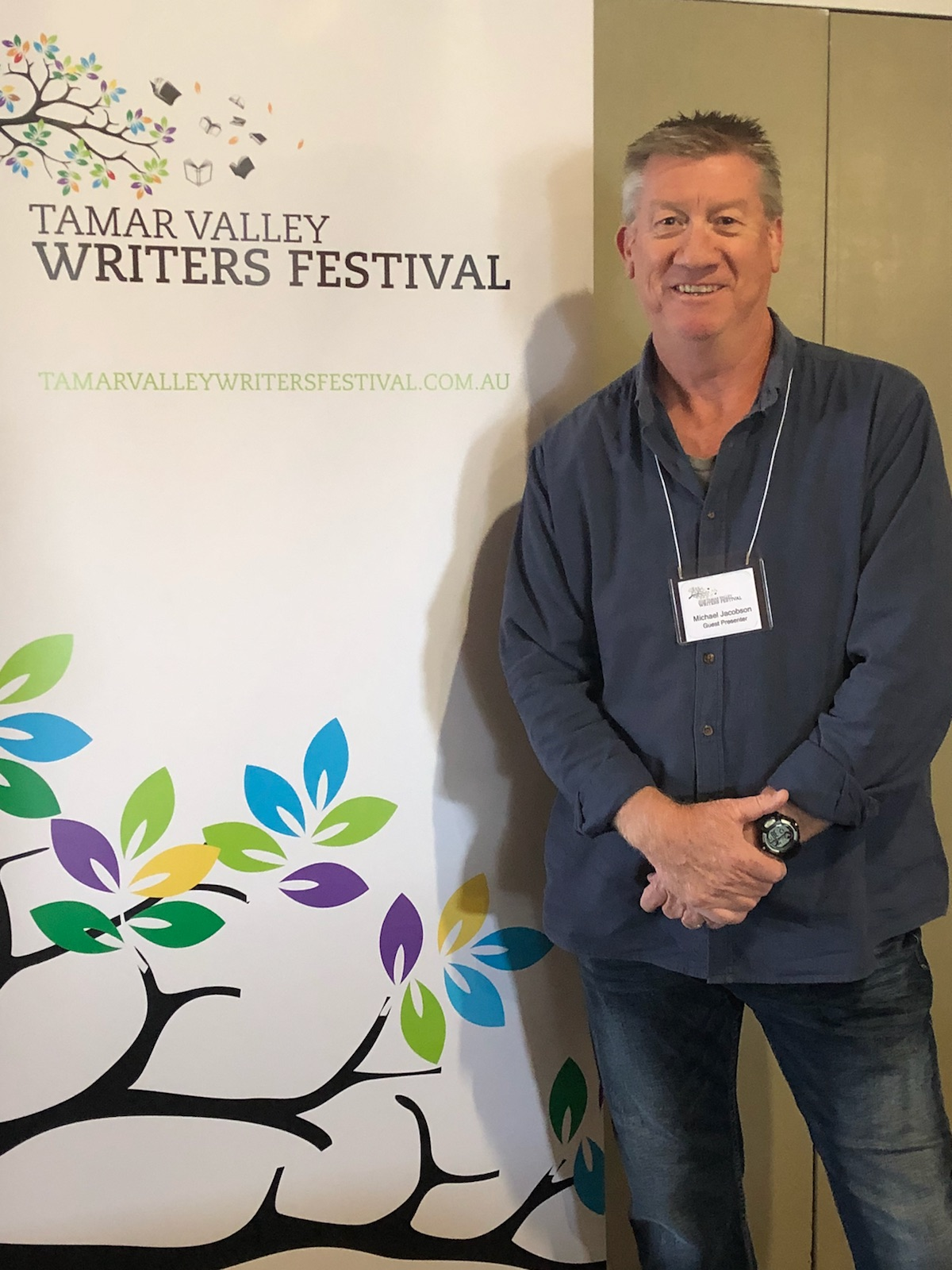 Editorial Director Michael Jacobson in Tasmania for the Tamar Valley Writers Festival.
