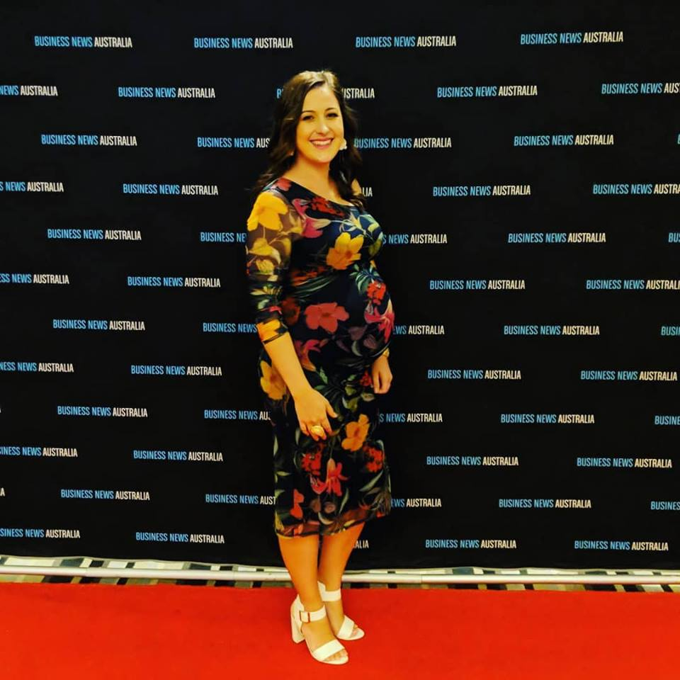 Managing Director Melinda Rogers at the Gold Coast Young Entrepreneur of the Year Awards in October 2018.
