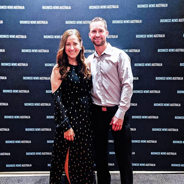 Very's Melinda Rogers with husband Dave at last night's Gold Coast #youngentrepreneur awards. We were a finalist in the PR & media category 🙌