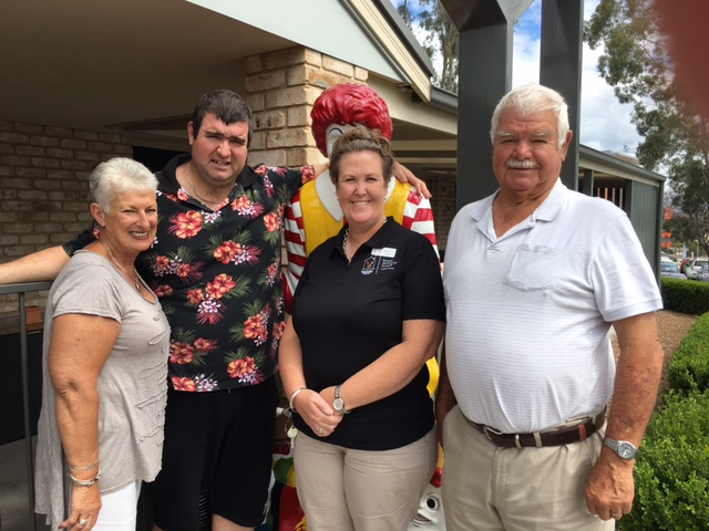 Pictured: Kerry, Reed and Bob Ewing with House Manager Kelly McCrohon