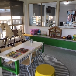 Newly renovated toy room shines