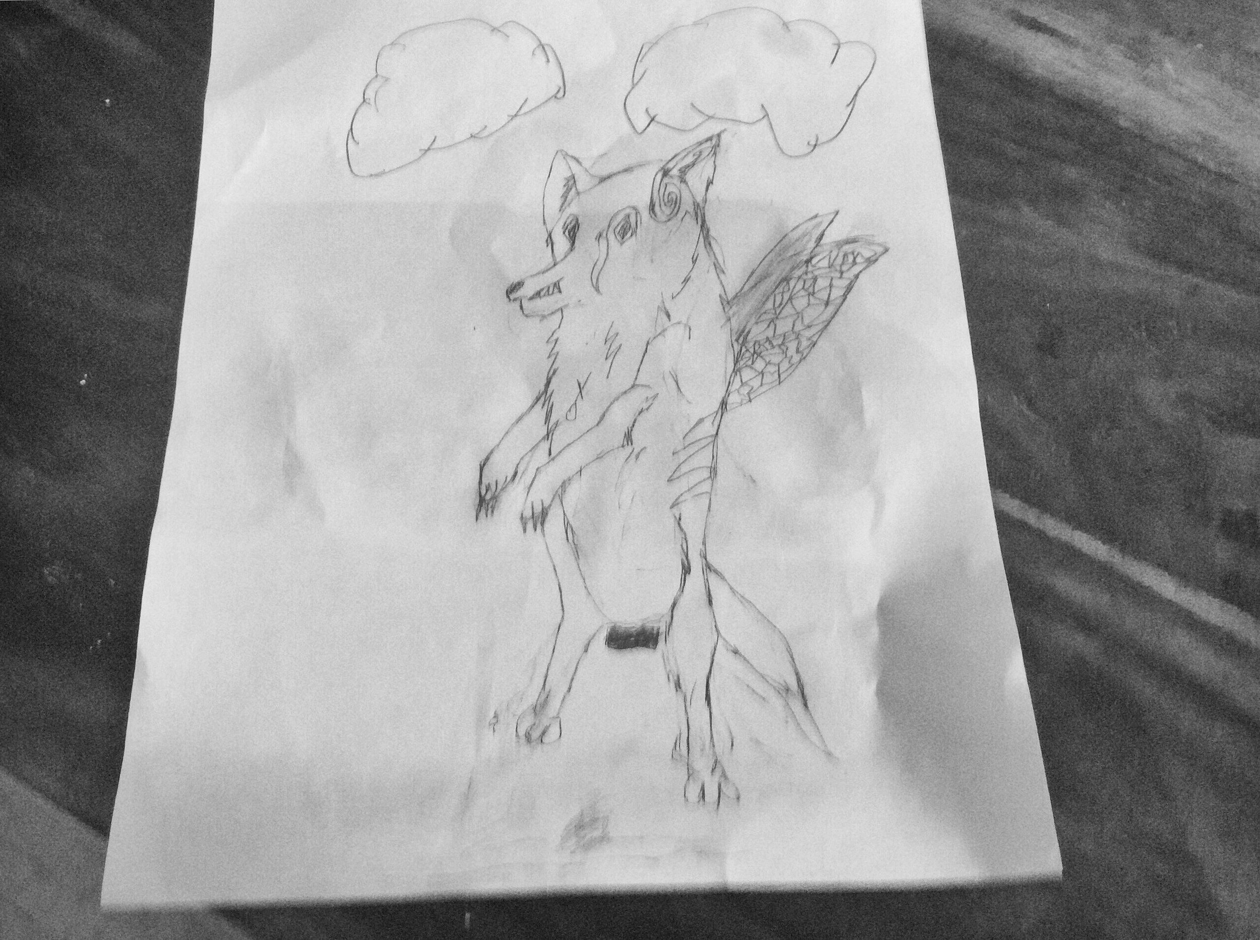 Kit as a Flying Direwolf   By Henry
