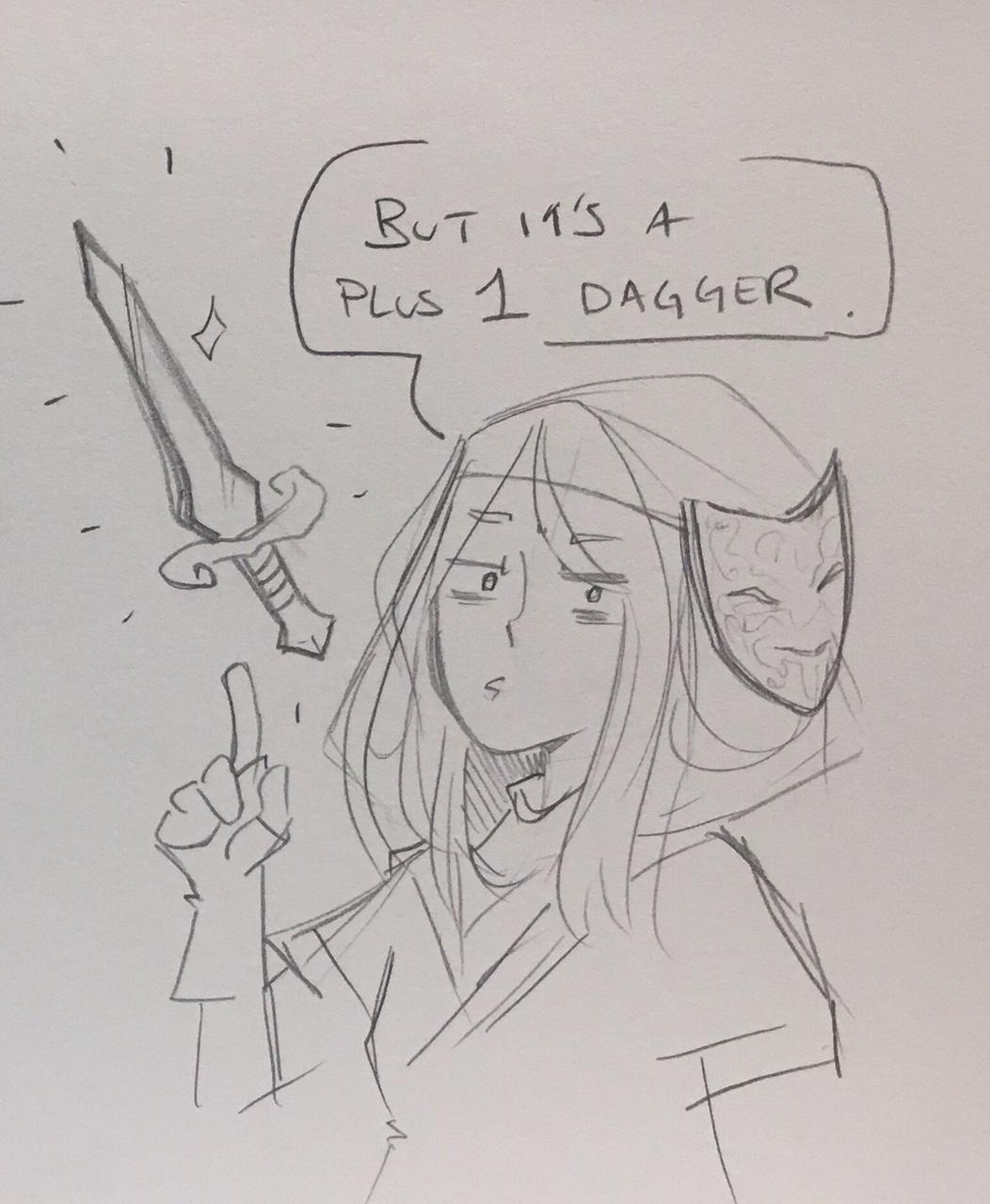…But it's a plus 1 dagger   Art by the amazing  @ NatRoze  .  https://natroze.portfoliobox.net/