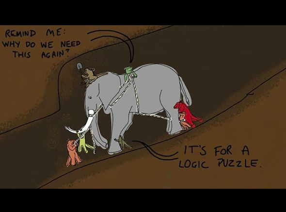 The wrangling of the elephant for the trials of leadership  by @ goublegecker