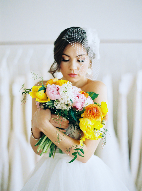 The florals for the shoot were designed by me!