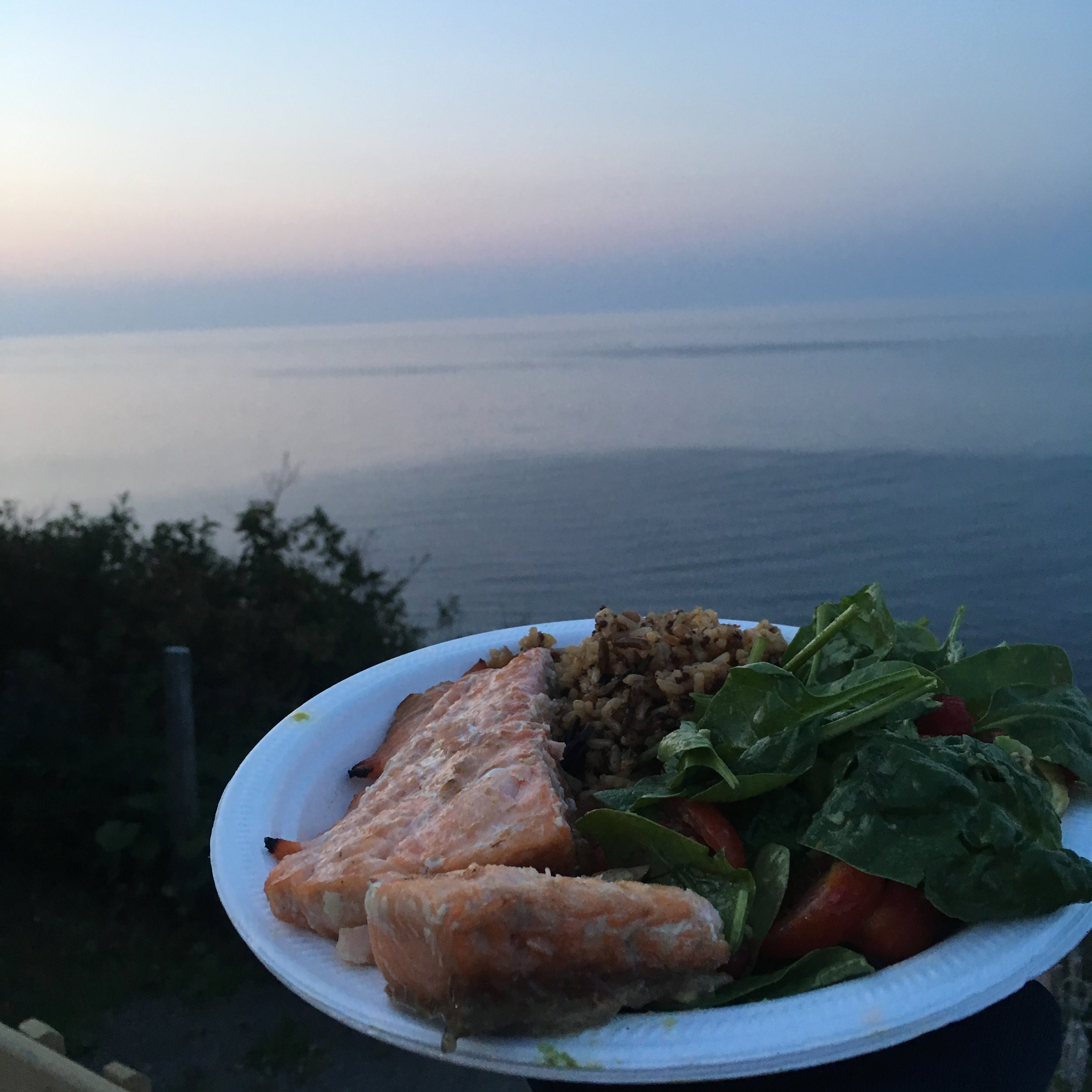 Grilled Maple Glazed Salmon Filets With A View