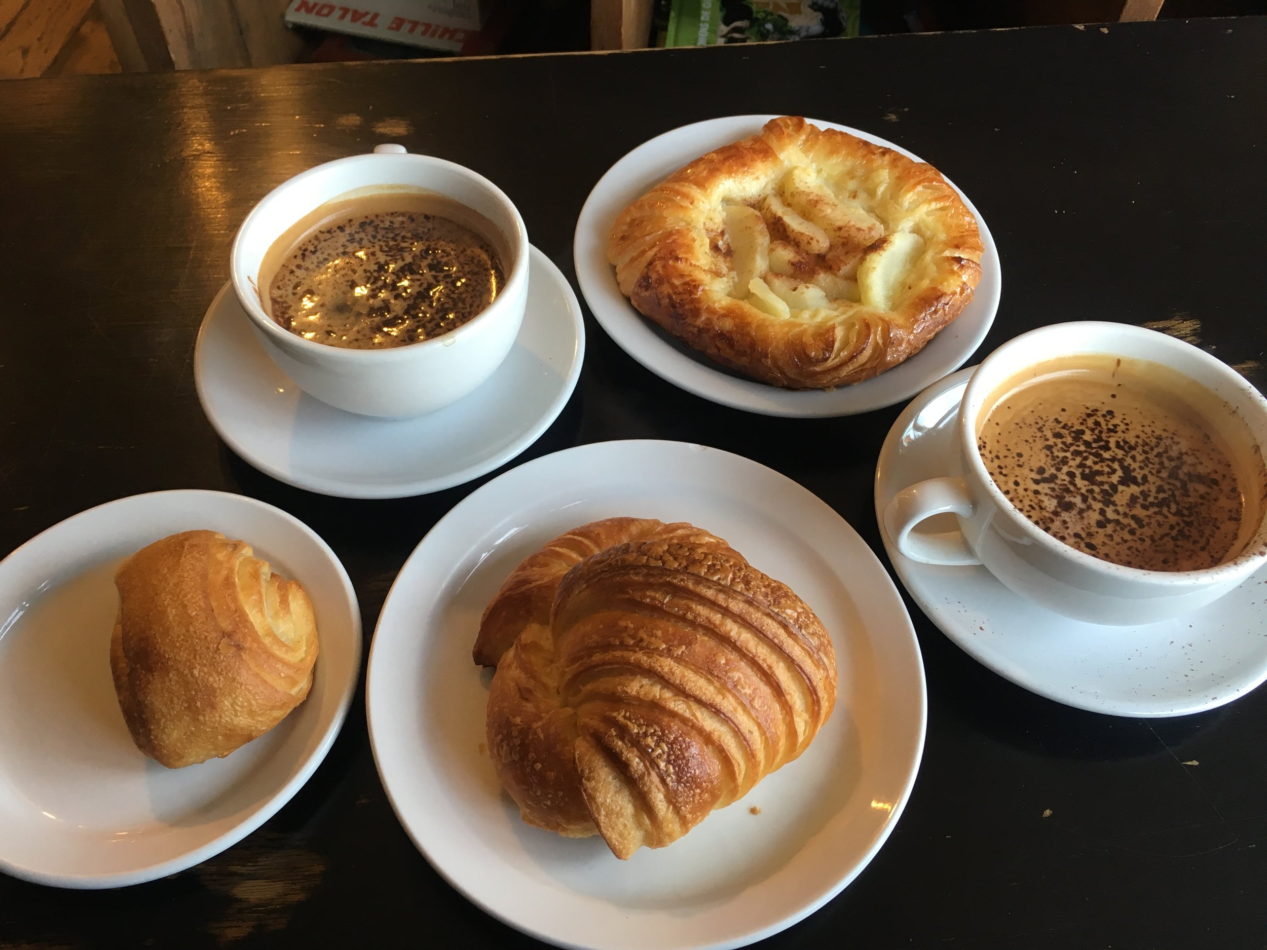 Pastries And Coffee At La Pétrie