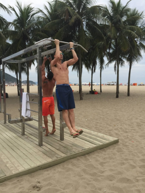 Johnny Working Out In Rio