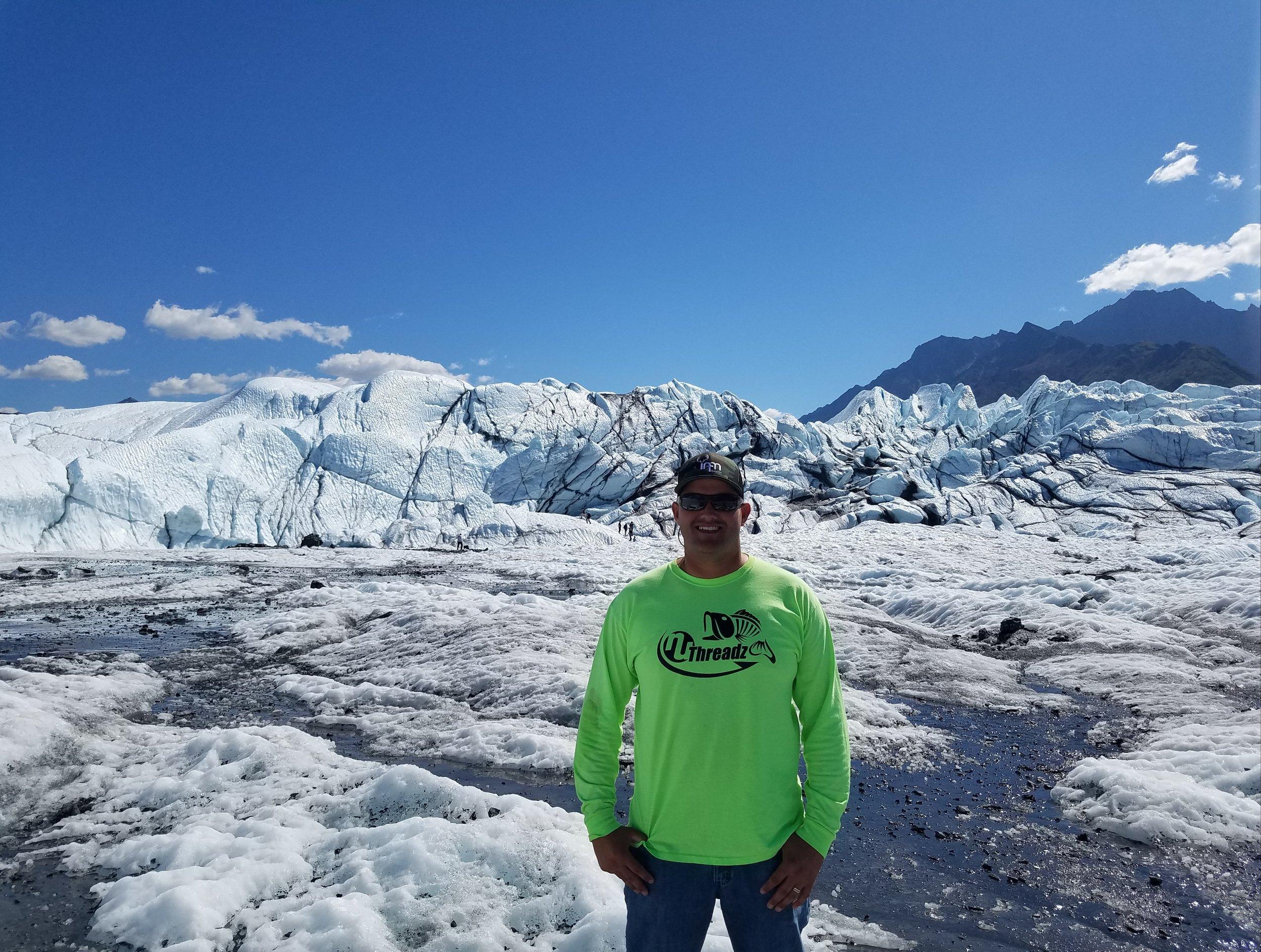 Blake at Matanuska glacier  (Nuthreadz shirt)