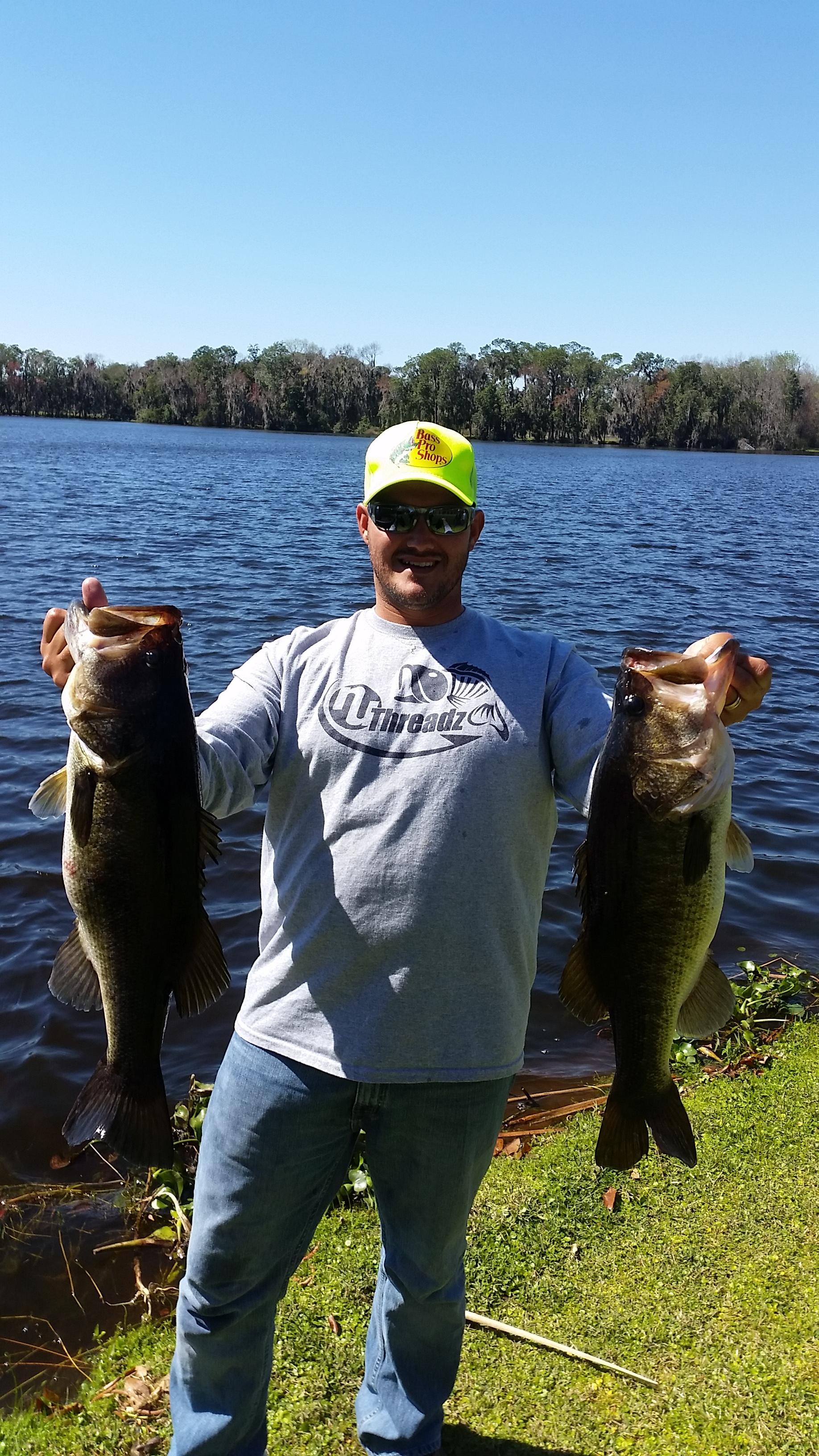 Blake with a pair of Polk County stud Large Mouth