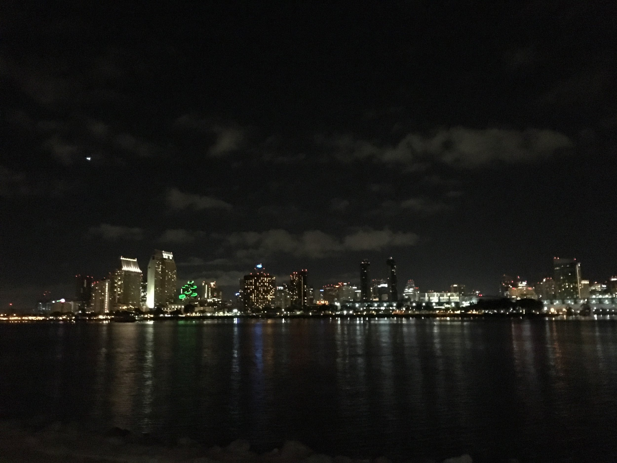 A view of downtown San Diego skyline from Coronado Island