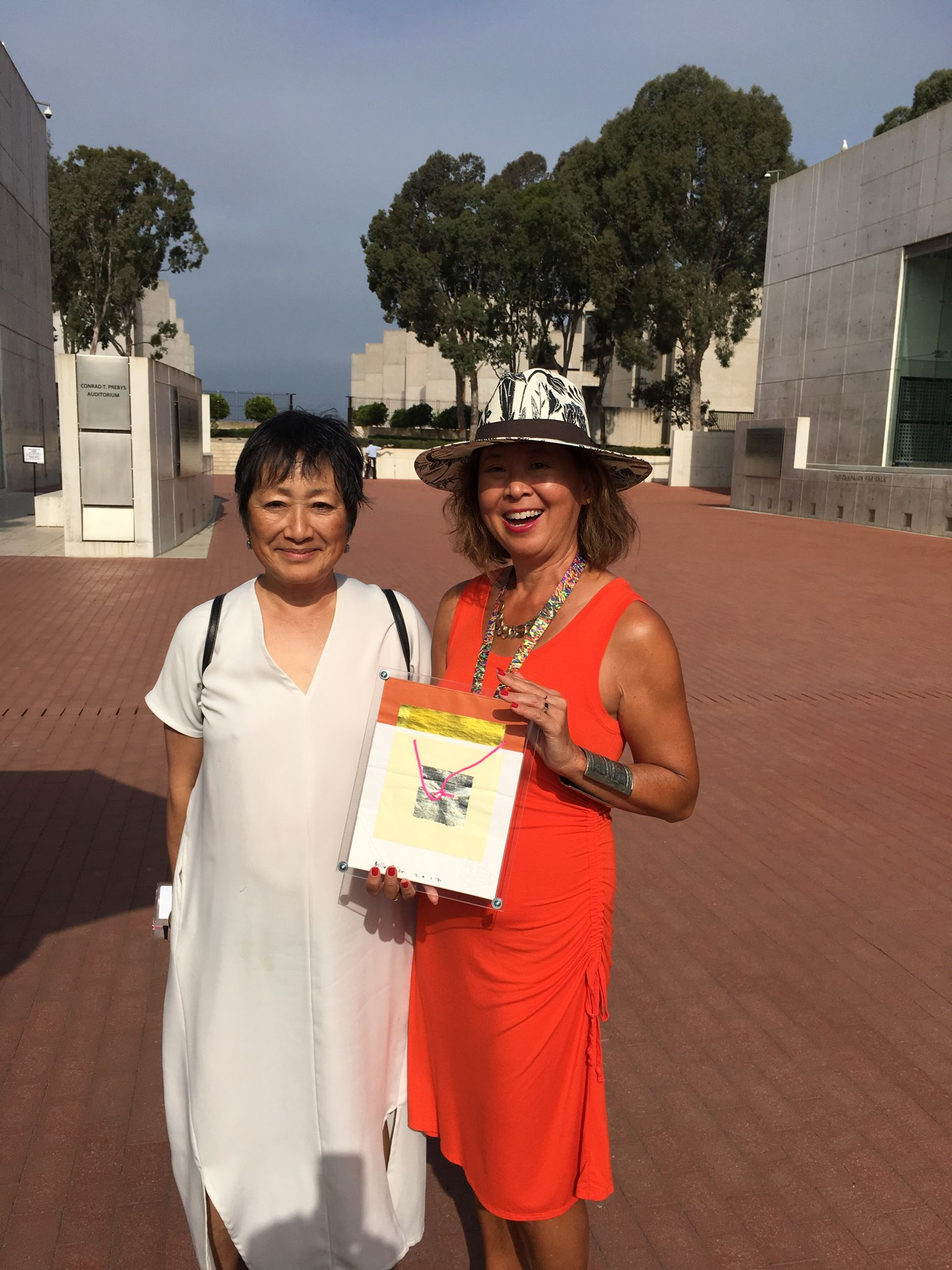 with Billie Tsien and the napkin sketch at Salk