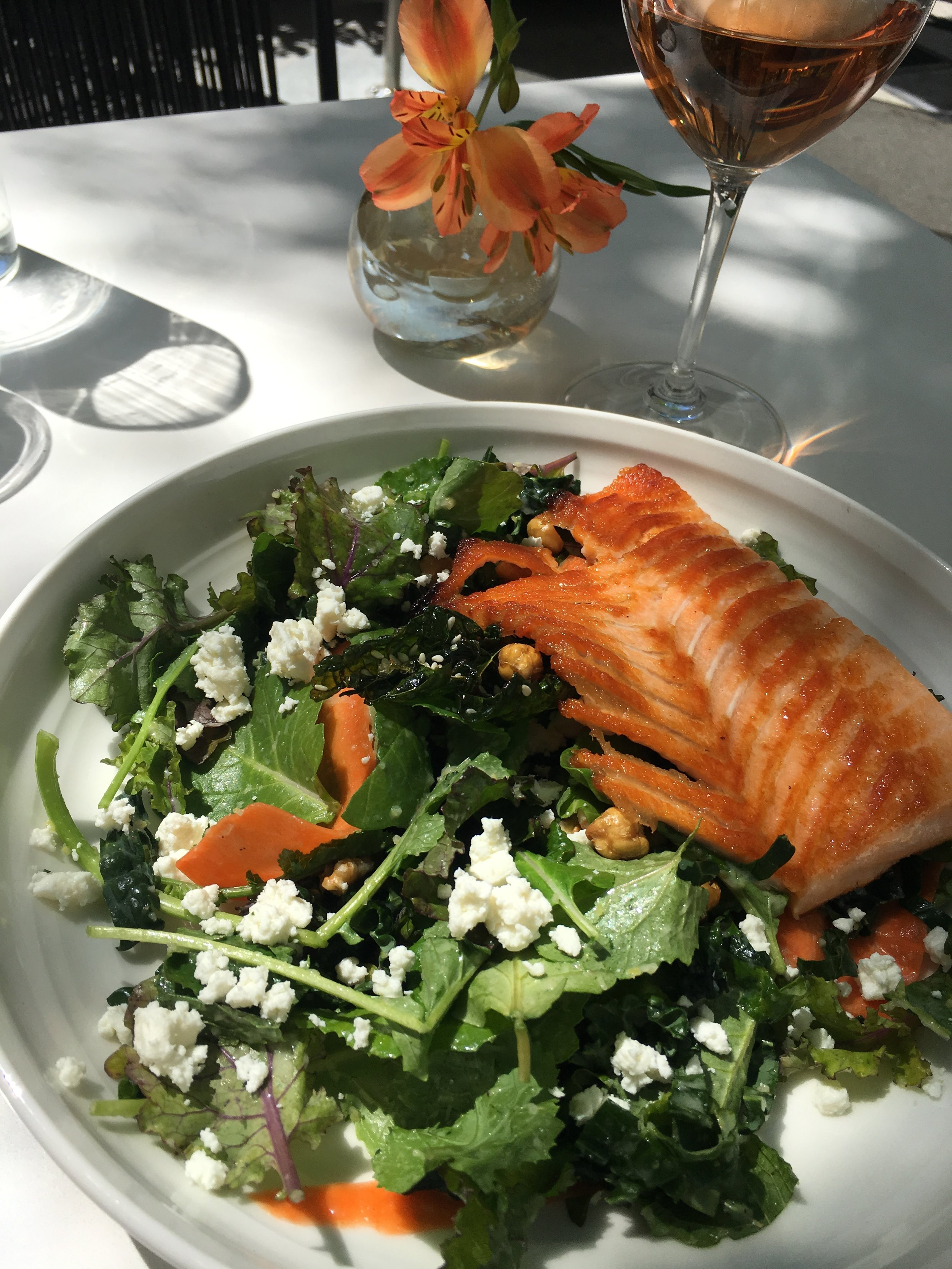 Kale Salad with Trout