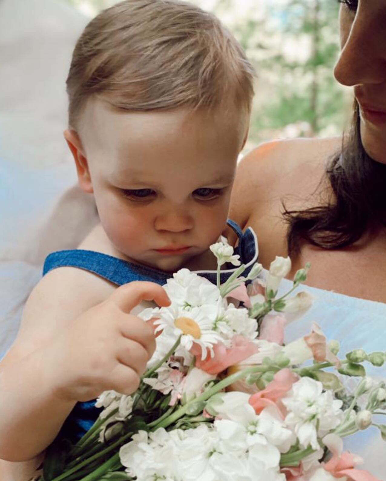 Bridal Bouquet + Sweet Wedding Baby
