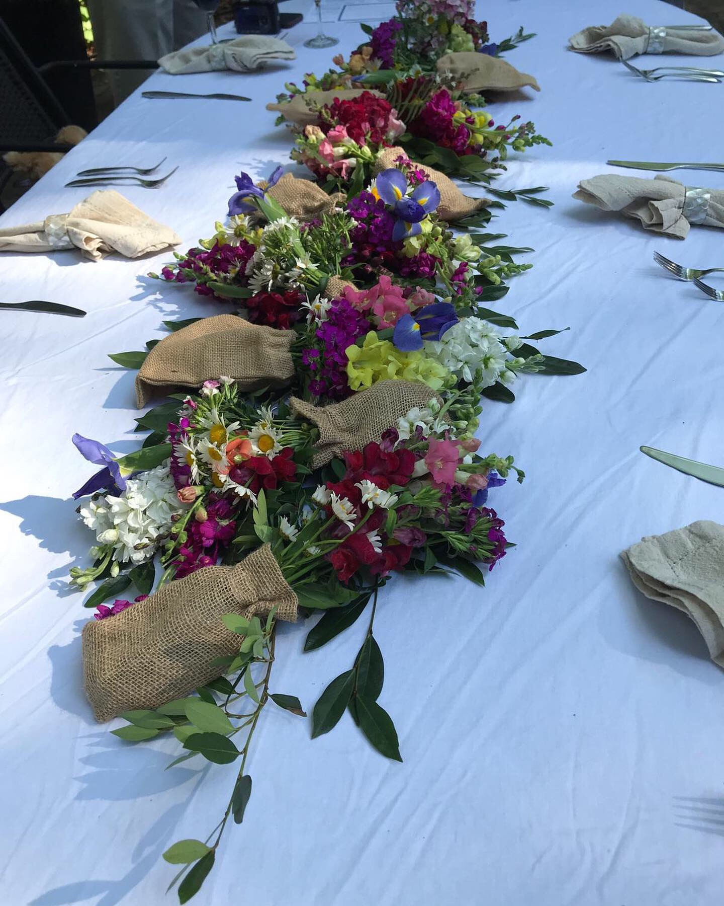 Wildflower Wedding Tablescapes