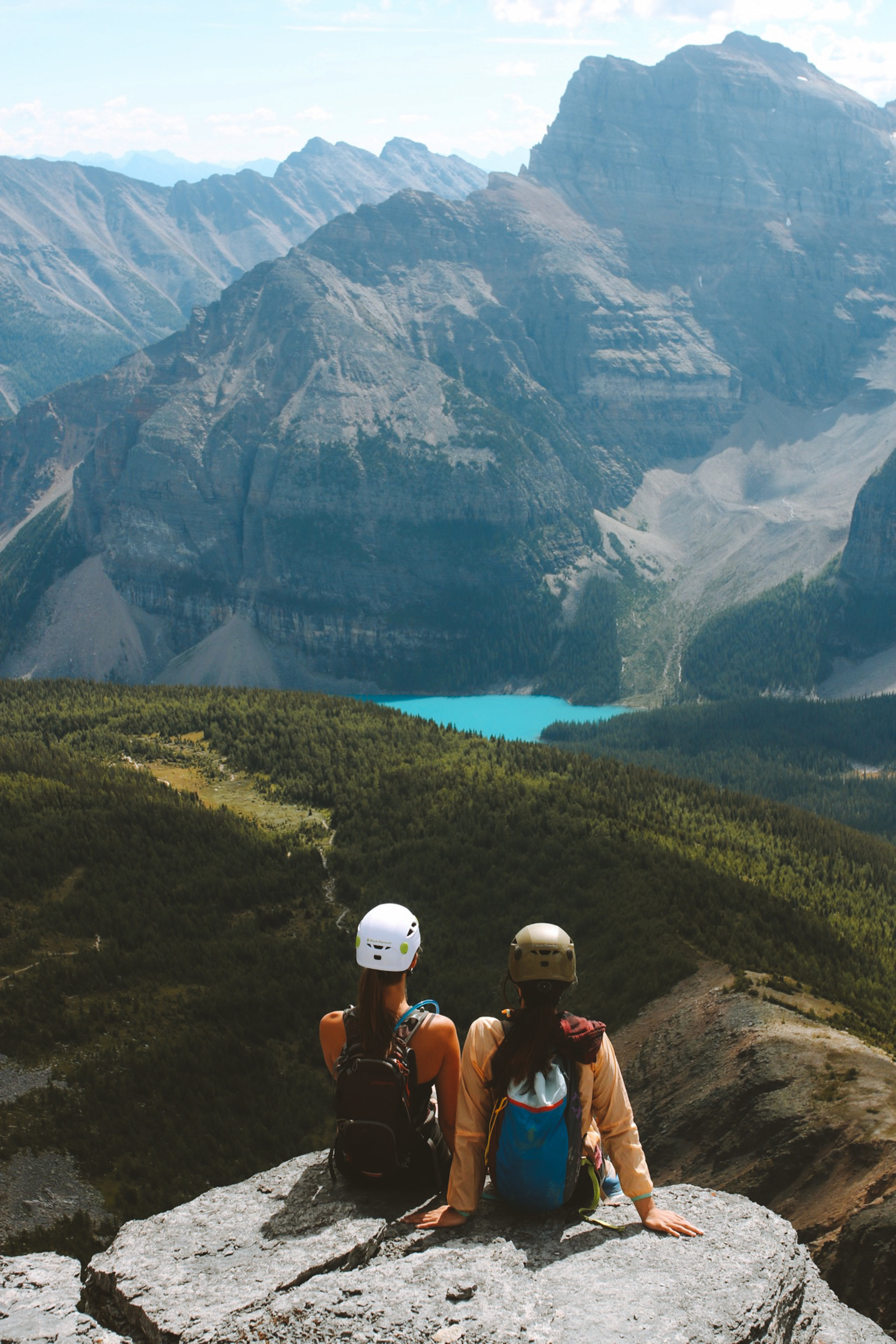Looking out over Moraine Lake from Eiffel Peak - Photo /  Darren Lund