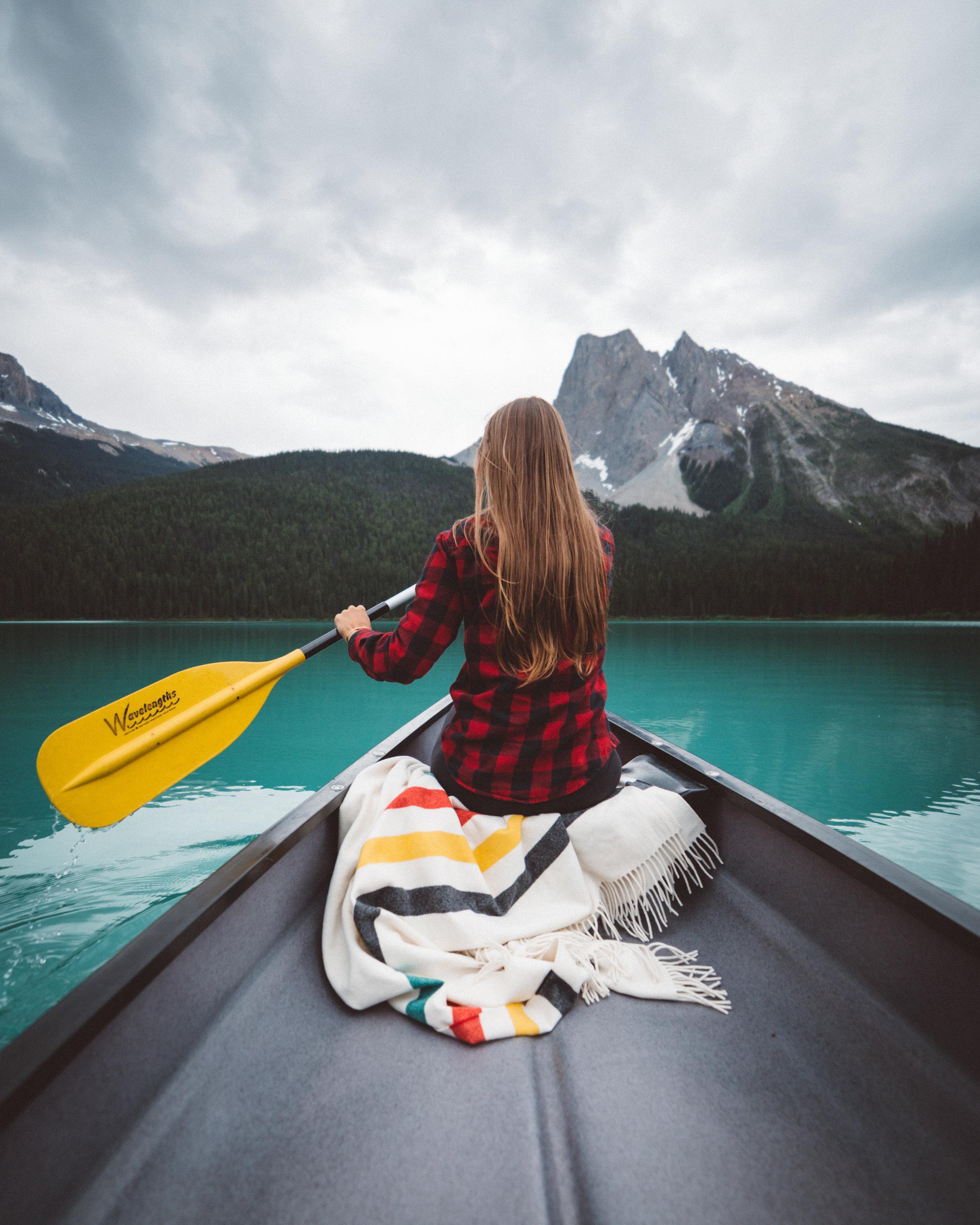 A morning paddle around Emerald Lake, photo / Christian Schaffer
