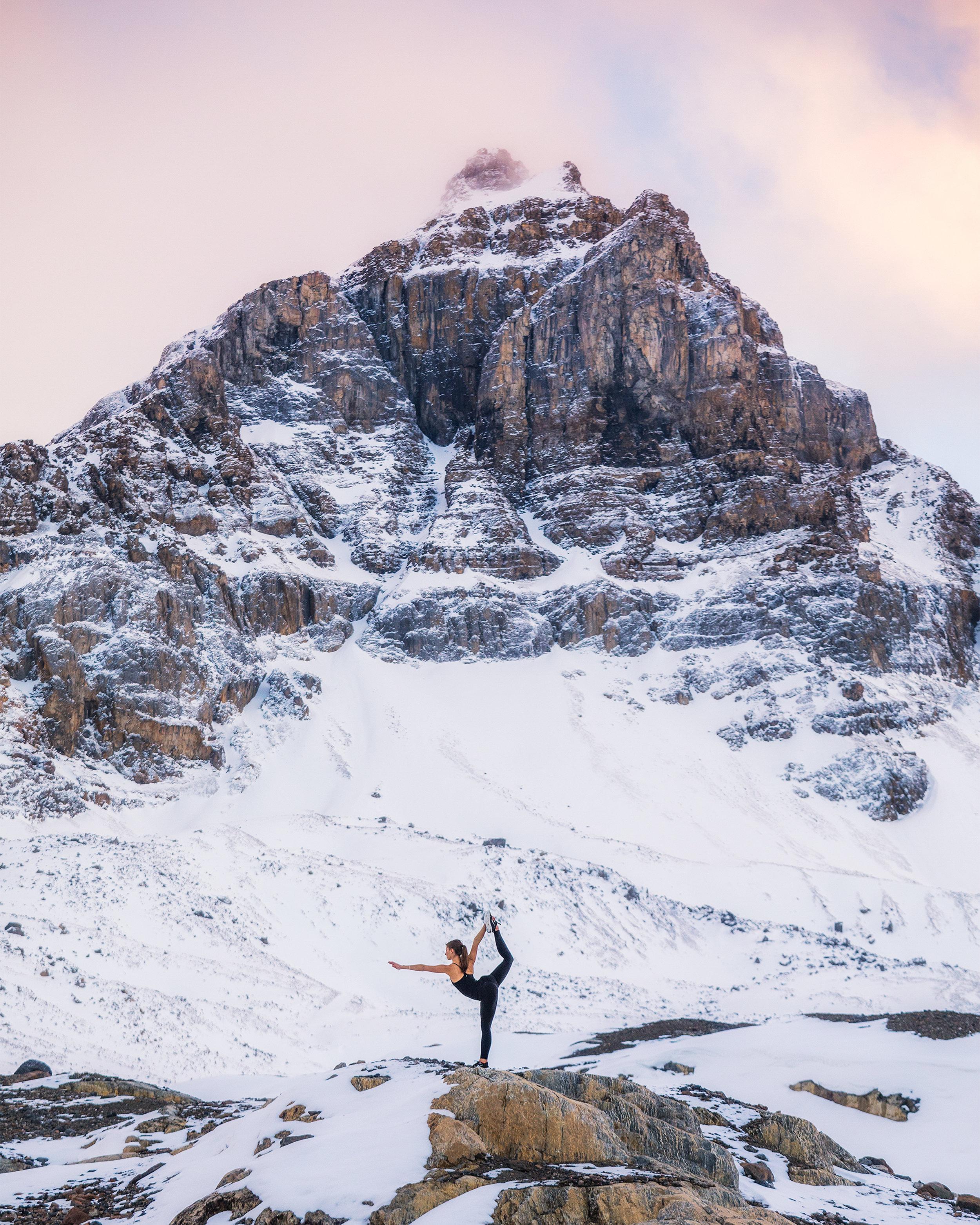 Andrea-doing-yoga-at-Athebasca-Glacier-by-Michael-Matti.jpg