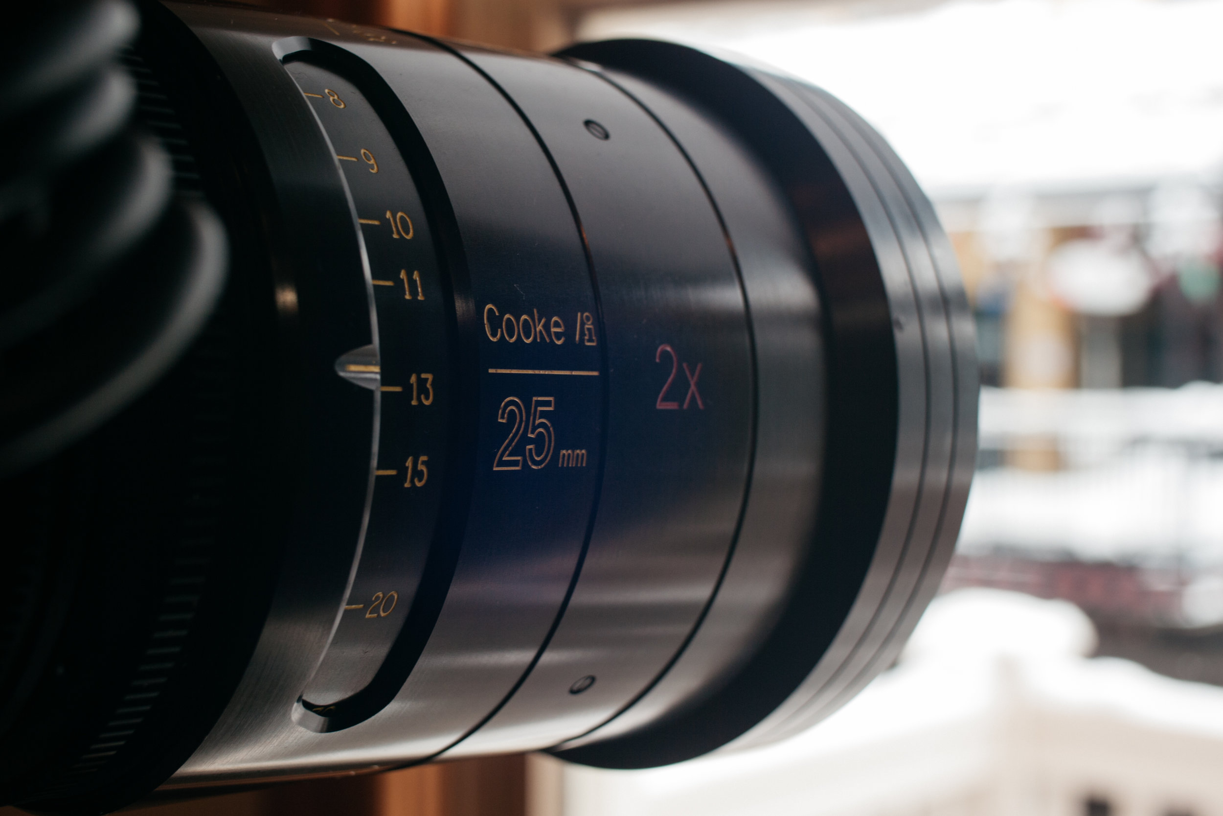 Cooke Anamorphic lens at the Canon House (Taken with: GH1, Speedbooster, Nikon Ai 35mm F2.8)