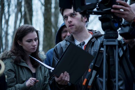 Matt Cronin (Director) giving a note to Alex Probst