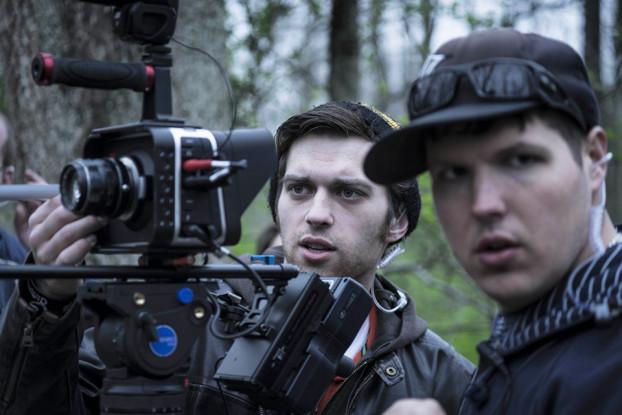Matt Cronin and Josh Bedsole (Director of Photography) setting up the shot