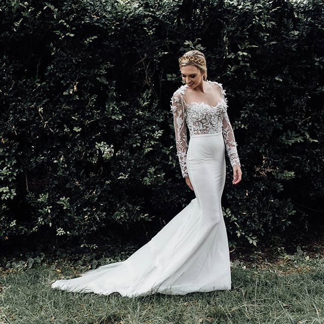 Our elegant Azalea gown available to try on in our Alexandria studio.  Enquire at www.ivonncouture.com . . #ivonncouture #whimsicalwedding #femininebride #florals #couture #bridetobe #engaged #instawedding #weddedwonderland #gettingmarried #beading #couture #corset #madeinaustralia #sydneydesigner